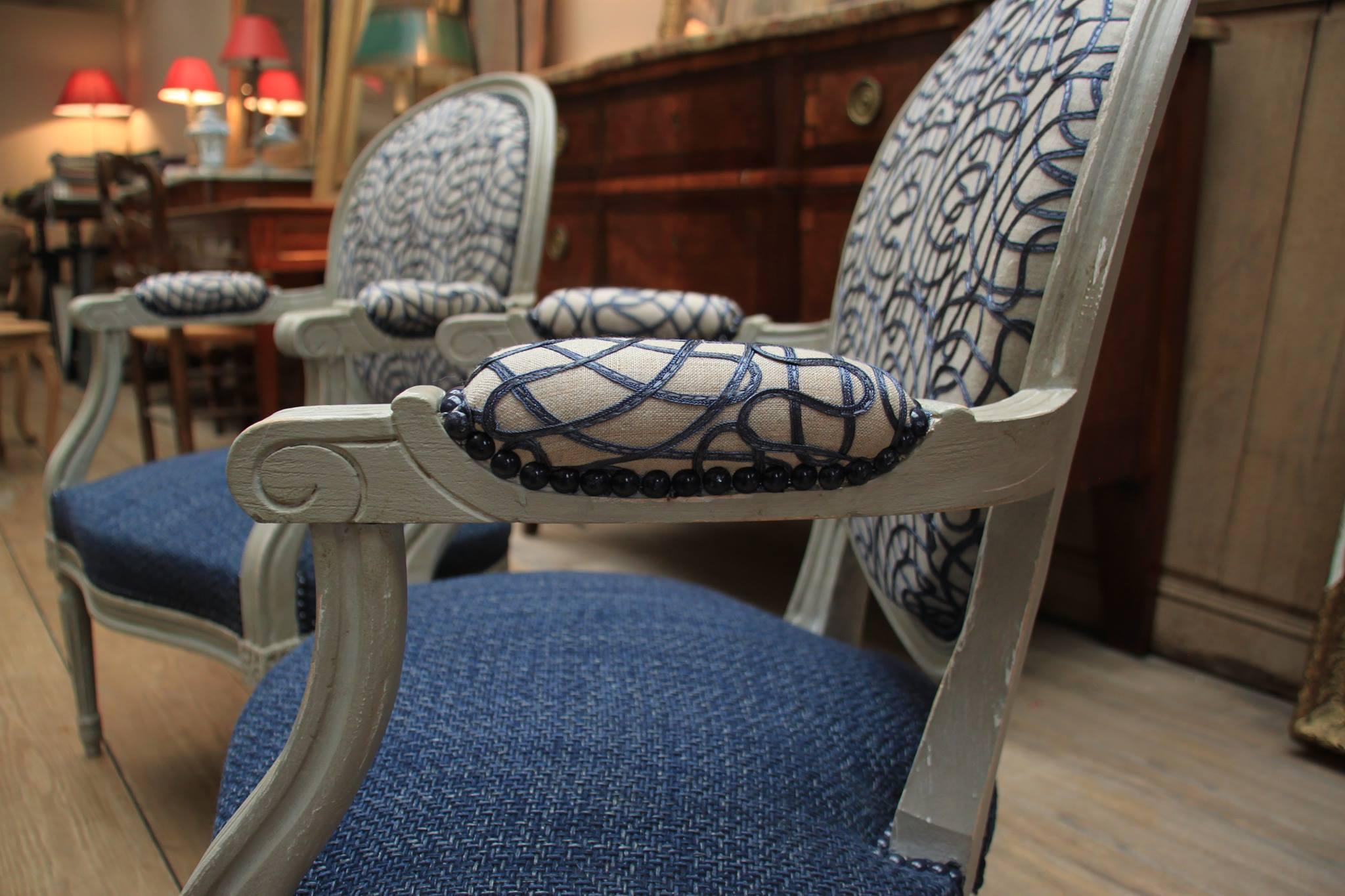 Fauteuil Club A Restaurer paille coco - garnissage - fauteuil club - rénovation cuir